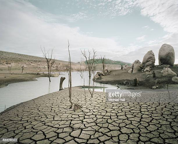 dried up dam - drought stock pictures, royalty-free photos & images