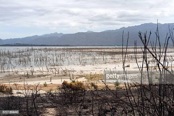Dried up reservoir near Franschhoek