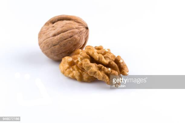 Dried walnut isolated