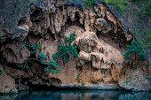 Dried waterfalls