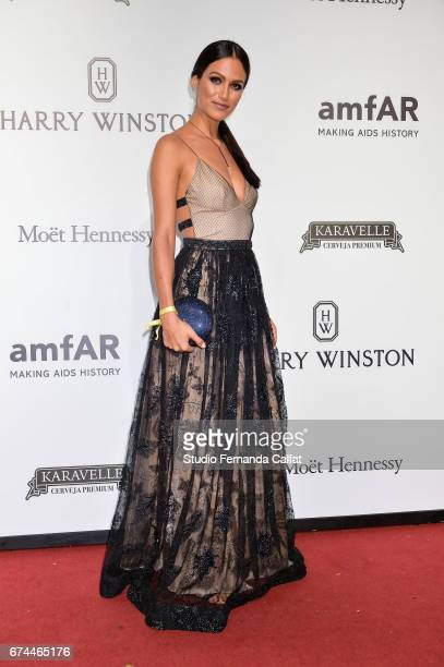 Driely Bennettone attends the 7th Annual amfAR Inspiration Gala on April 27 2017 in Sao Paulo Brazil