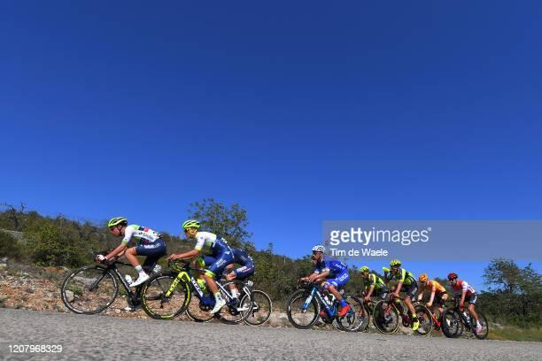 Dries De Bondt of Belgium and Team Alpecin-Fenix / David González of Spain and Team Caja Rural - Seguros RGA / Tom Devriendt of Belgium and Team...