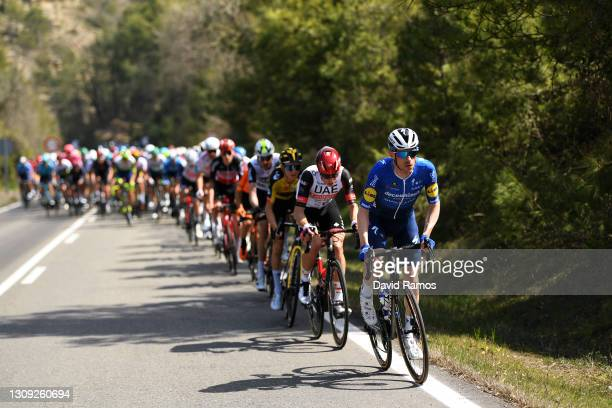 Dries Devenyns of Belgium and Team Deceuninck - Quick-Step during the 100th Volta Ciclista a Catalunya 2021, Stage 5 a 201,5km stage from La Pobla De...