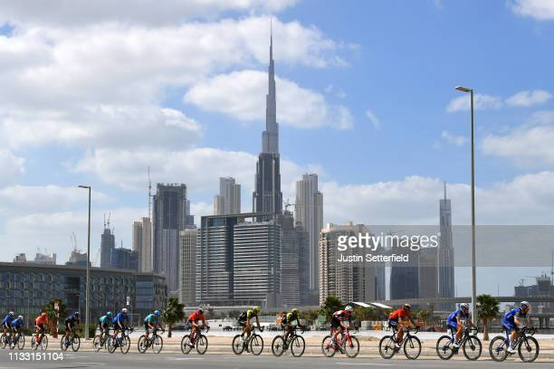 Dries Devenyns of Belgium and Team Deceuninck-QuickStep / James Knox of Great Britain and Team Deceuninck-QuickStep / Vincenzo Nibali of Italy and...