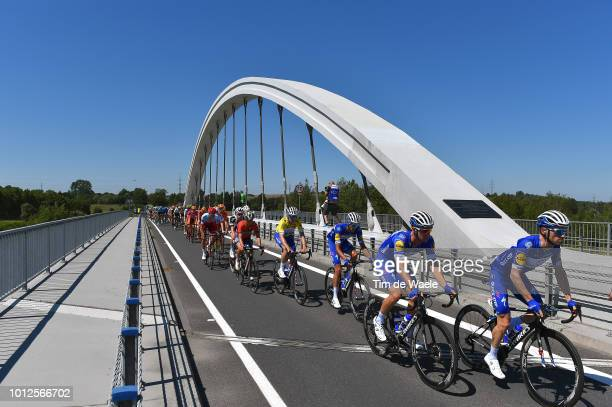 Dries Devenyns of Belgium and Team Quick-Step Floors / Fabio Sabatini of Italy and Team Quick-Step Floors / Eros Capecchi of Italy and Team...