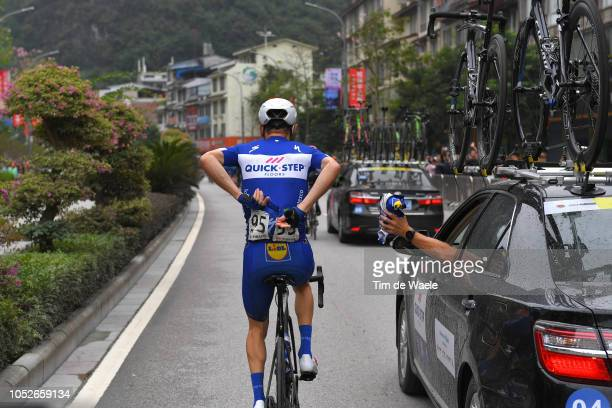 Dries Devenyns of Belgium and Team Quick-Step Floors / Feed Zone / Car / during the 2nd Tour of Guangxi 2018, Stage 6 a 169km stage from Guilin to...