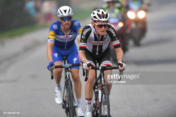 Dries Devenyns of Belgium and Team Quick-Step Floors / Sam Oomen of Netherlands and Team Sunweb / during the 75th Tour of Poland 2018, Stage 6 a...