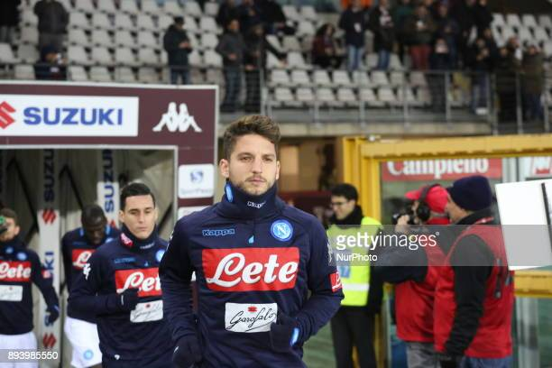 Dries Mertens before the Serie A football match between Torino FC and SSC Napoli at Olympic Grande Torino Stadium on 16 December 2017 in Turin Italy...