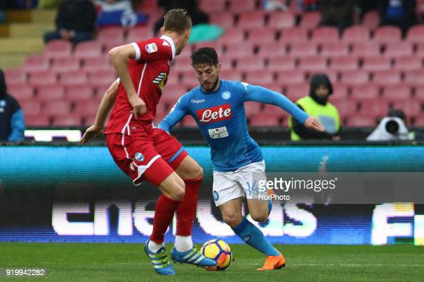Dries Mertens during the Italian Serie A football SSC Napoli v Spal at S Paolo Stadium in Naples on February 18 2018