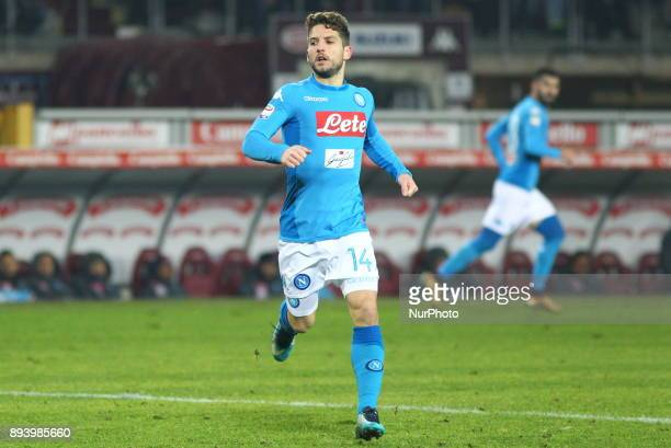 Dries Mertens during the Serie A football match between Torino FC and SSC Napoli at Olympic Grande Torino Stadium on 16 December 2017 in Turin Italy...