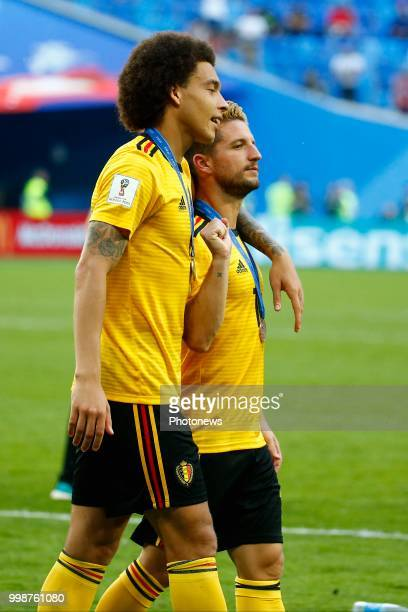 Dries Mertens forward of Belgium and Axel Witsel midfielder of Belgium during the FIFA 2018 World Cup Russia Playoff for third place match between...