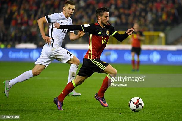 Dries Mertens forward of Belgium during the World Cup Qualifier Group H match between Belgium and Estonia at the King Baudouin Stadium on November...