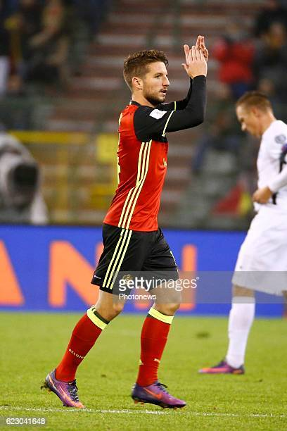 Dries Mertens forward of Belgium during the World Cup Qualifier Group H match between Belgium and Estonia at the King Baudouin Stadium on November 13...