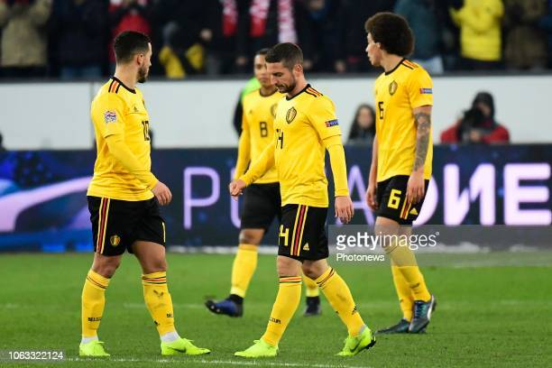 Dries Mertens forward of Belgium looks dejected during the UEFA Nations League Group Stage League A Group 2 match between Switzerland and Belgium in...