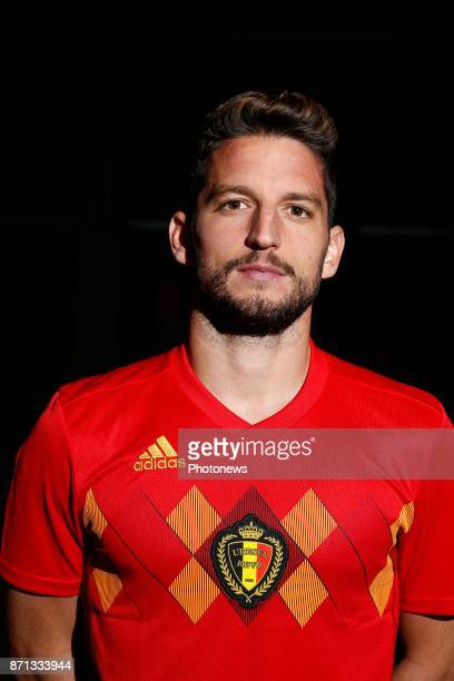 Dries Mertens forward of Belgium Official team picture during the photoshoot of the Red Devils at the national training center on November 07 2017 in...