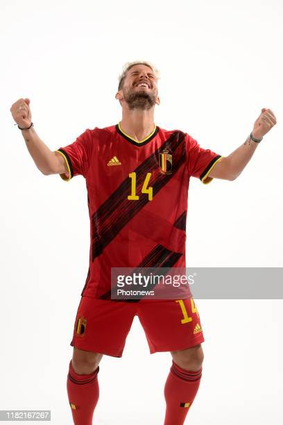 Dries Mertens forward of Belgium pictured during a photo session presenting the new jersey of the Belgian National Football Team prior to the Euro...