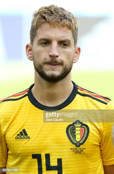 Dries Mertens of Belgium during the 2018 FIFA World Cup Russia group G match between Belgium and Tunisia at Spartak Stadium on June 23 2018 in Moscow...