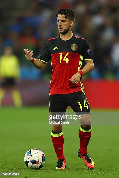 Dries Mertens of Belgium during the UEFA EURO 2016 Group E match between Belgium and Italy at Stade des Lumiere on June 13 2016 in Lyon France