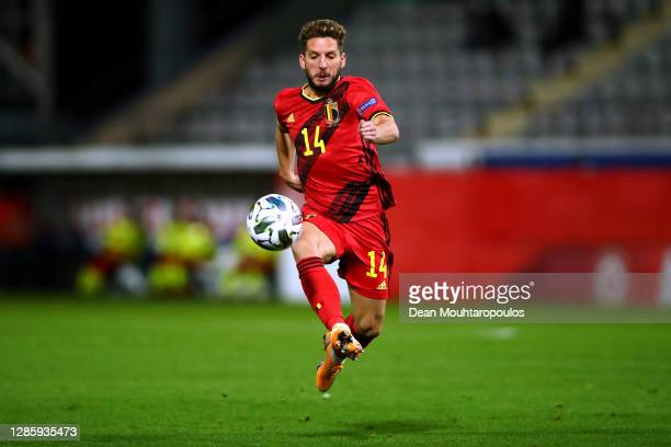 Dries Mertens of Belgium in action during the UEFA Nations League group stage match between Belgium and England at King Power at Den Dreef Stadion on...