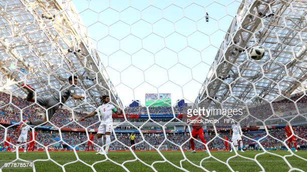Dries Mertens of Belgium scores his team's first goal during the 2018 FIFA World Cup Russia group G match between Belgium and Panama at Fisht Stadium...