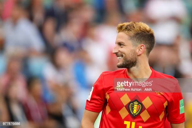 Dries Mertens of Belgium smiles after scoring a goal to make it 10 during the 2018 FIFA World Cup Russia group G match between Belgium and Panama at...