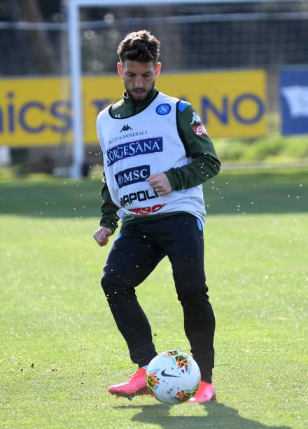 Dries Mertens of Napoli during a training session on March 9 2020 in Naples Italy