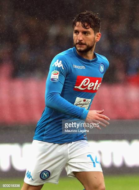 Dries Mertens of Napoli during the serie A match between SSC Napoli and Spal at Stadio San Paolo on February 18 2018 in Naples Italy