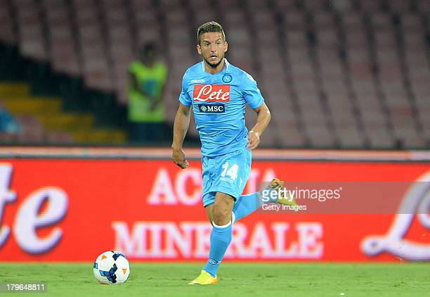 Dries Mertens of Napoli in action during the Serie A match between SSC Napoli and Bologna Calcio at Stadio San Paolo on August 25, 2013 in Naples,...