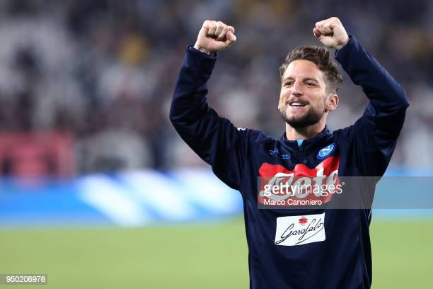 Dries Mertens of Ssc Napoli celebrate at the end of the Serie A football match between Juventus Fc and Ssc Napoli Ssc Napoli wins 10 over Juventus Fc