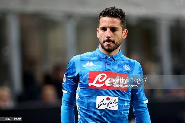 Dries Mertens of Ssc Napoli during the Serie A football match between Ac Milan and Ssc Napoli The match end in a tie 00