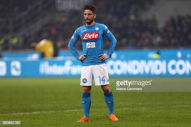 Dries Mertens of Ssc Napoli during the Serie A football match between Fc Internazionale and Ssc Napoli The final score was 00