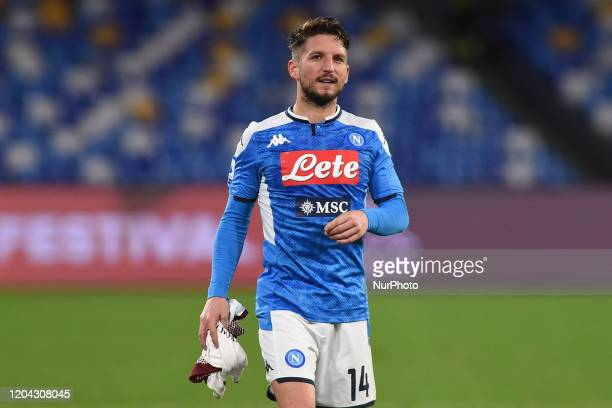 Dries Mertens of SSC Napoli during the Serie A match between SSC Napoli and FC Torino at Stadio San Paolo Naples Italy on 29 February 2020