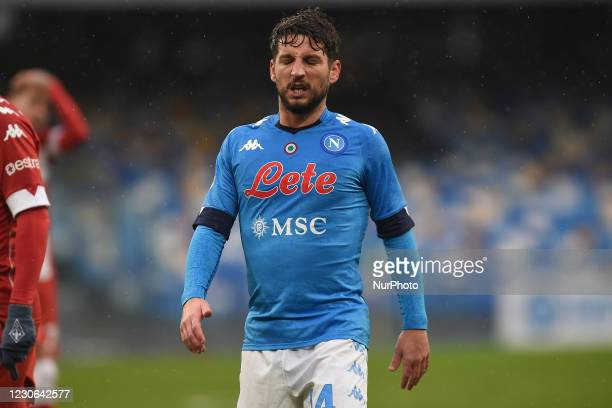 Dries Mertens of SSC Napoli during the Serie A match between SSC Napoli and ACF Fiorentina at Stadio Diego Armando Maradona Naples Italy on 17...
