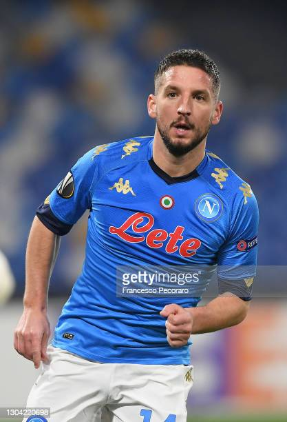 Dries Mertens of SSC Napoli during the UEFA Europa League Round of 32 match between SSC Napoli and Granada CF at Stadio Diego Armando Maradona on...