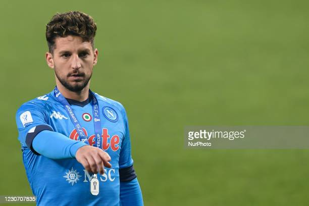 Dries Mertens of SSC Napoli gestures at the end of the Italian PS5 Supercup Final match between FC Juventus and SSC Napoli at the Mapei Stadium -...