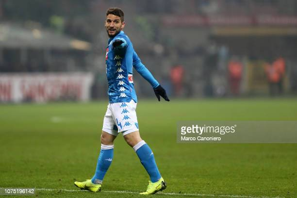 Dries Mertens of Ssc Napoli gestures during the Serie A football match between FC Internazionale and Ssc Napoli Fc Internazionale wins 10 over Ssc...