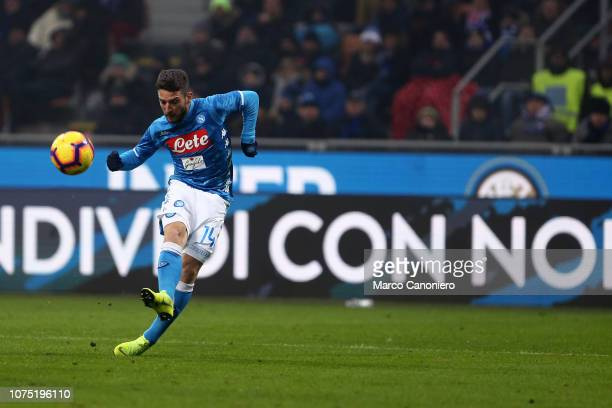 Dries Mertens of Ssc Napoli in action during the Serie A football match between FC Internazionale and Ssc Napoli Fc Internazionale wins 10 over Ssc...