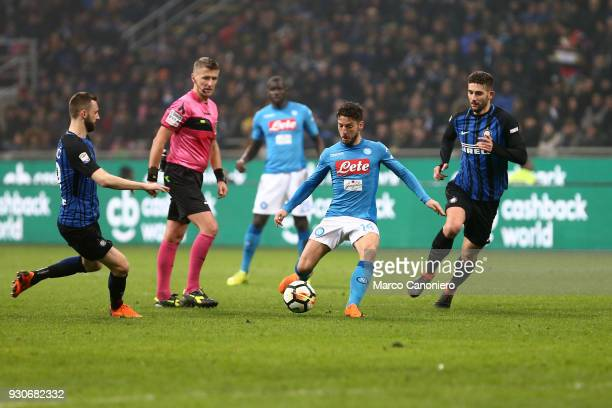 Dries Mertens of Ssc Napoli in action during the Serie A football match between Fc Internazionale and Ssc Napoli The final score was 00