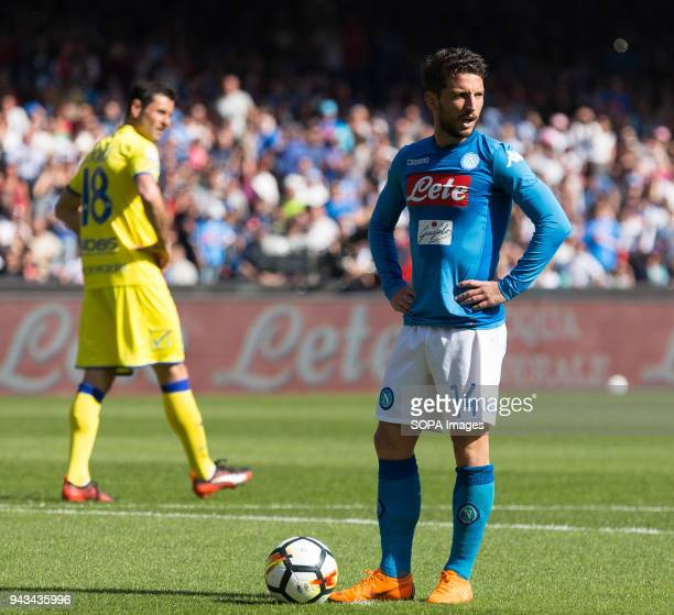 PAOLO NAPOLI CAMPANIA ITALY Dries Mertens of SSC Napoli in action during the Serie A football match between SSC Napoli and AC Chievo Verona at San...