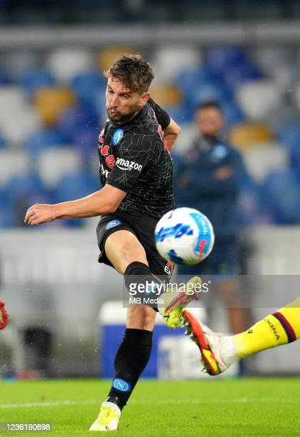 Dries Mertens of SSC Napoli in action ,during the Serie A match between SSC Napoli and Bologna FC at Stadio Diego Armando Maradona on October 28,...