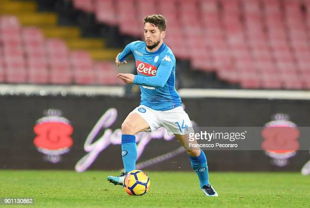 Dries Mertens of SSC Napoli in action during the TIM Cup match between SSC Napoli and Atalanta BC on January 2 2018 in Naples Italy
