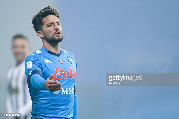 Dries Mertens of SSC Napoli looks dejected during the Italian PS5 Supercup Final match between FC Juventus and SSC Napoli at the Mapei Stadium -...