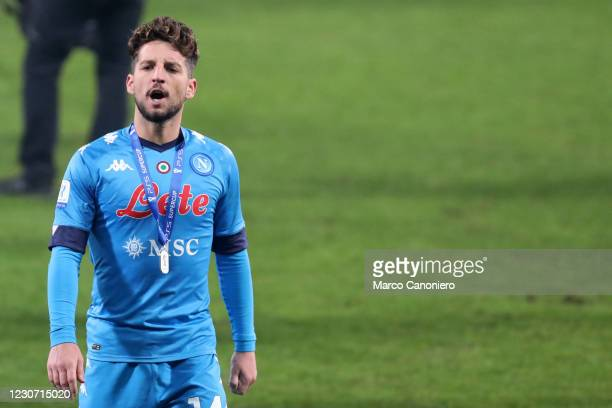 Dries Mertens of Ssc Napoli looks on at the end of the Italian Supercup final match between Juventus Fc and Ssc Napoli. Juventus Fc wins 2-0 over Ssc...