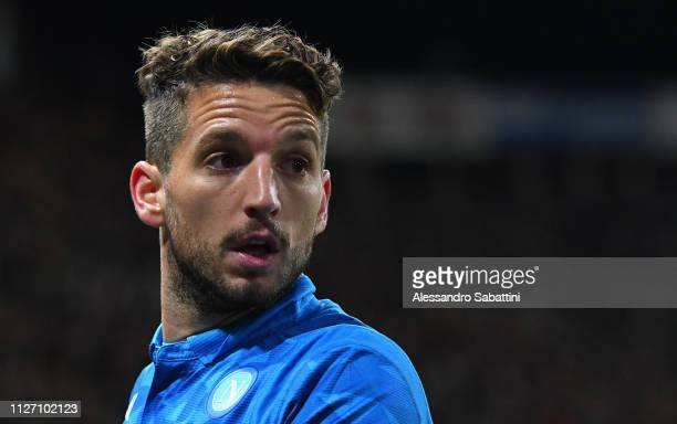 Dries Mertens of SSC Napoli looks on during the Serie A match between Parma Calcio and SSC Napoli at Stadio Ennio Tardini on February 24 2019 in...