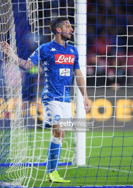 Dries Mertens of SSC Napoli show his disappointment after the Serie A match between SSC Napoli and Chievo Verona at Stadio San Paolo on November 25...