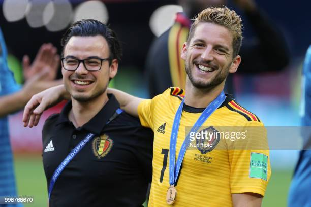 Dries Mertens of the Belgium national football team vie reacts after the 2018 FIFA World Cup Russia 3rd Place Playoff match between Belgium and...