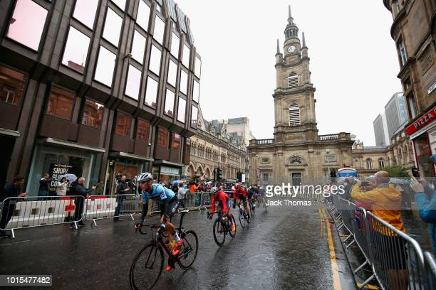Dries Van Gestel of Belgium rides in the Men's Road Race during the road cycling on Day Eleven of the European Championships Glasgow 2018 at on...