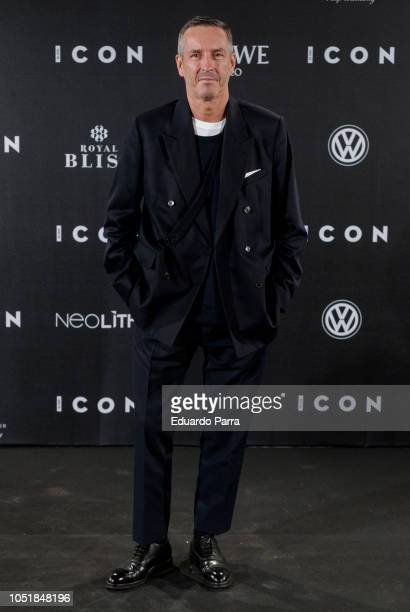 Dries Van Noten attends the 'Icon Awards 2018' photocall at Real Tapestry Factory on October 10 2018 in Madrid Spain
