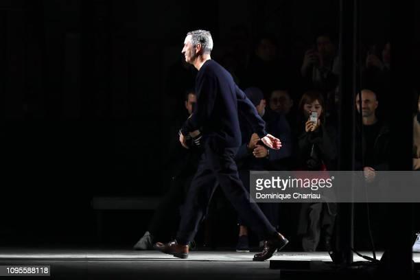 Dries Van Noten walks the runway during the Dries Van Noten Menswear Fall/Winter 20192020 show as part of Paris Fashion Week on January 17 2019 in...