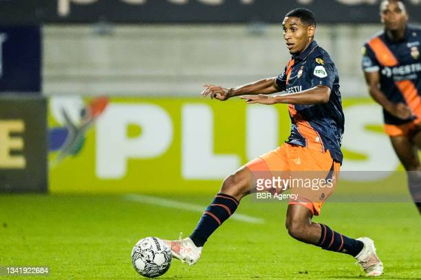 Driess Saddiki of Willem II during the Dutch Eredivisie match between RKC Waalwijk and Willem II at Mandemakers Stadion on September 21, 2021 in...